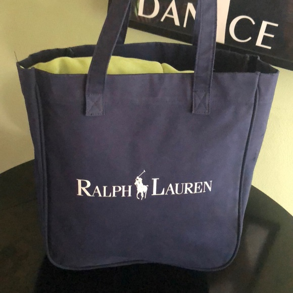 Polo by Ralph Lauren Bags   Ralph Lauren Polo Navy Blue Canvas Tote ... 5bcfbc2b9c